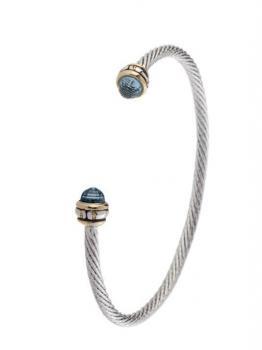 John Medeiros Thin Wire Cuff Bracelet