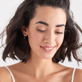 Ania Haie Silver Glow Huggie Hoop Earrings