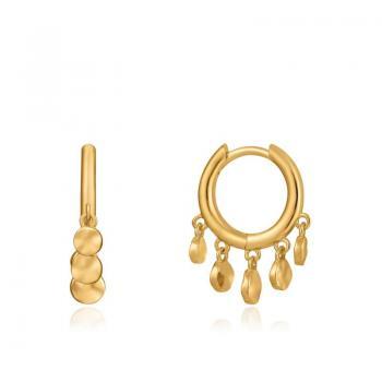 Ania Haie Gold Mini Disc Huggie Hoop Earrings