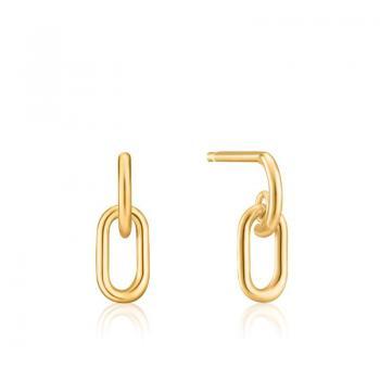 Ania Haie Gold Link Stud Earrings