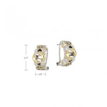 John Medeiros Antiqua Three Circle Post Clip Earrings