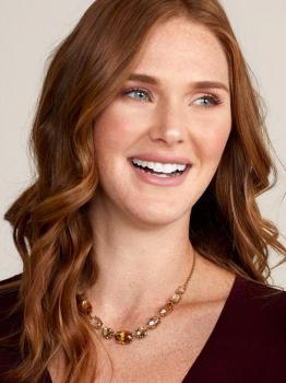Zenzii Amber Crystals Collar Necklace