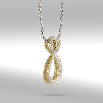 John Medeiros Infinity Collection Pavé Enhancer with Chain Necklace