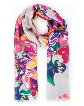 Powder Summer Floral Scarf