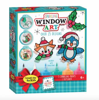 Holiday Sparkling Window Art