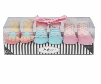 Coral The Mermaid Socks Gift Set