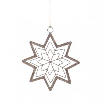 8-Point Star Holiday Hanging Ornament