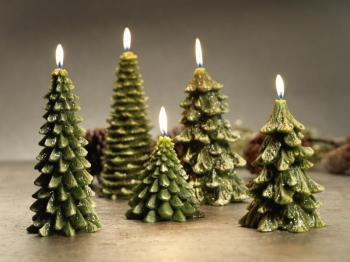 Zodax Winter Pine Tree Candle