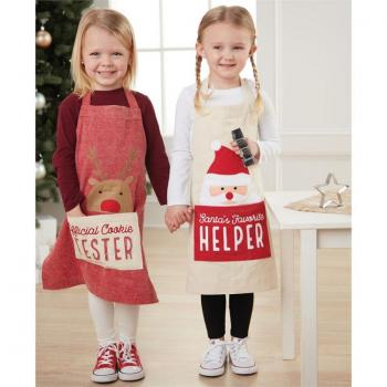 Mud Pie Kids Christmas Apron Set