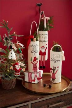Mud Pie Christmas Wine Bag