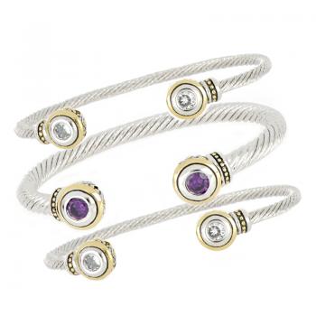 John Medeiros Two Tone Small Cuff Bracelet