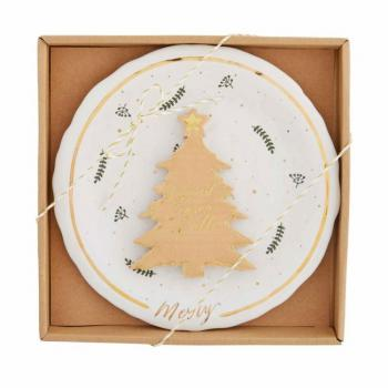 Mud Pie Gold Splatter Cheese Set