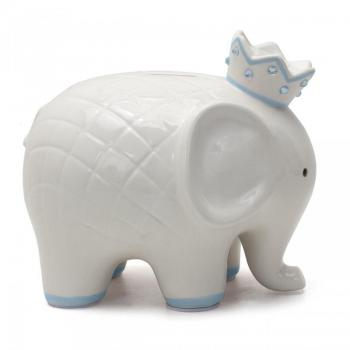 Child to Cherish Coco Elephant Blue Piggy Bank