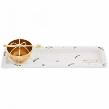 Gold Merry Tray and Dip Set