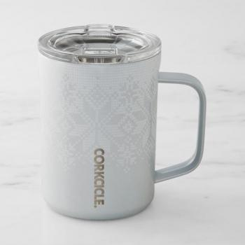 Corkcicle White Fairisle Mug