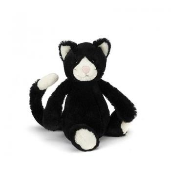 Jellycat Bashful Black & White Kitten Medium 12