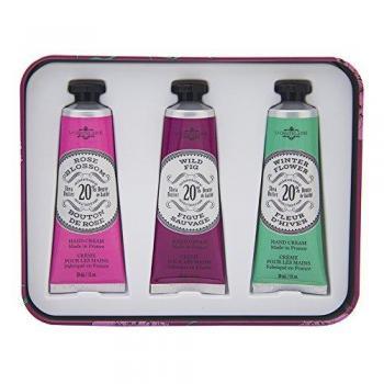 La Chatelaine 20% Shea Butter Hand Cream Tin Gift Set, 3 X 1fl Oz with Organic Argan Oil, Hydrating,