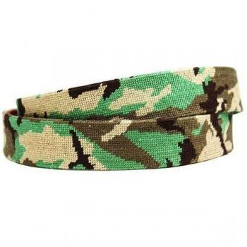 CAMO NEEDLEPOINT BELT