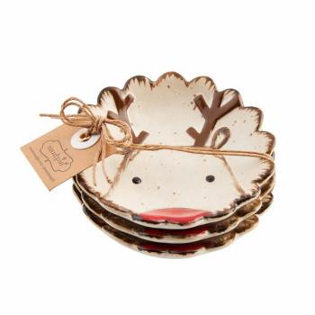 Mud Pie Reindeer Tidbit Dish Set