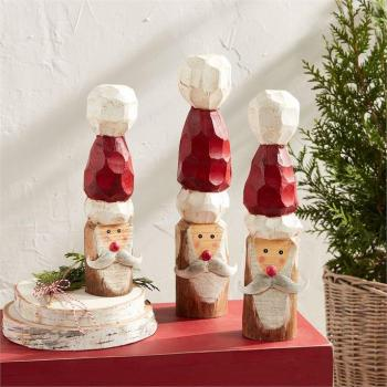 Mud Pie Santa Wood Block