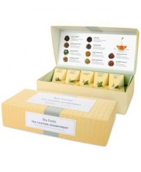 Tea Forte Tea Tasting Assortment 10 Handcrafted Pyramid Tea Infusers Box Presentation
