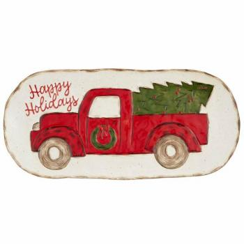 Mud Pie Farmhouse Truck Platter