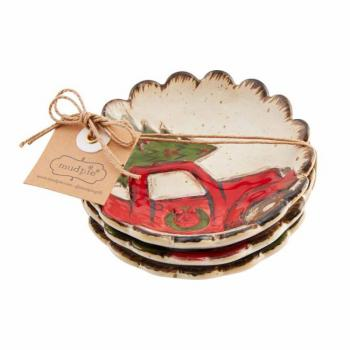 Mud Pie Farm Truck Tidbit Dish Set