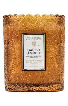 Voluspa Baltic Amber Boxed Scalloped Candle