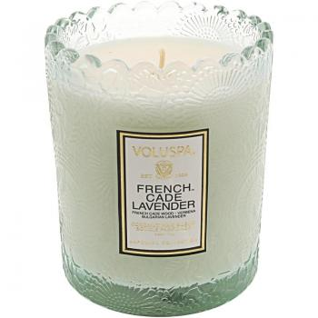 Voluspa French Cade and Lavender Boxed Scalloped Candle VOL-7204