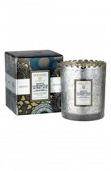 Voluspa Japonica Scalloped Edge Embossed Glass Candle, Size One Size - Metallic