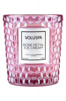 Voluspa Roses Classic Textured Glass Candle, Size 6.5 Oz - Pink