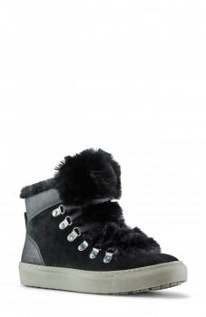 Women's Lace up Faux Fur Trimmed Sneakers