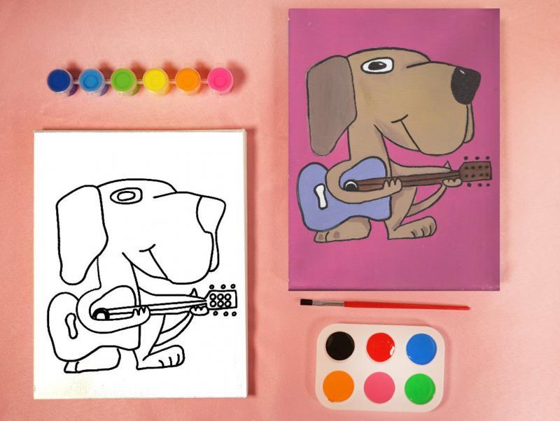 DOG&GUITAR PAIT SET
