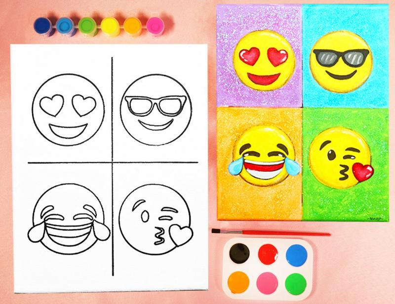 EMOJIS PAINT SET