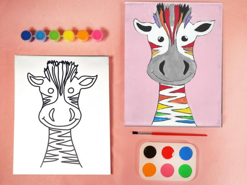 GIRAFFE PAINT SET