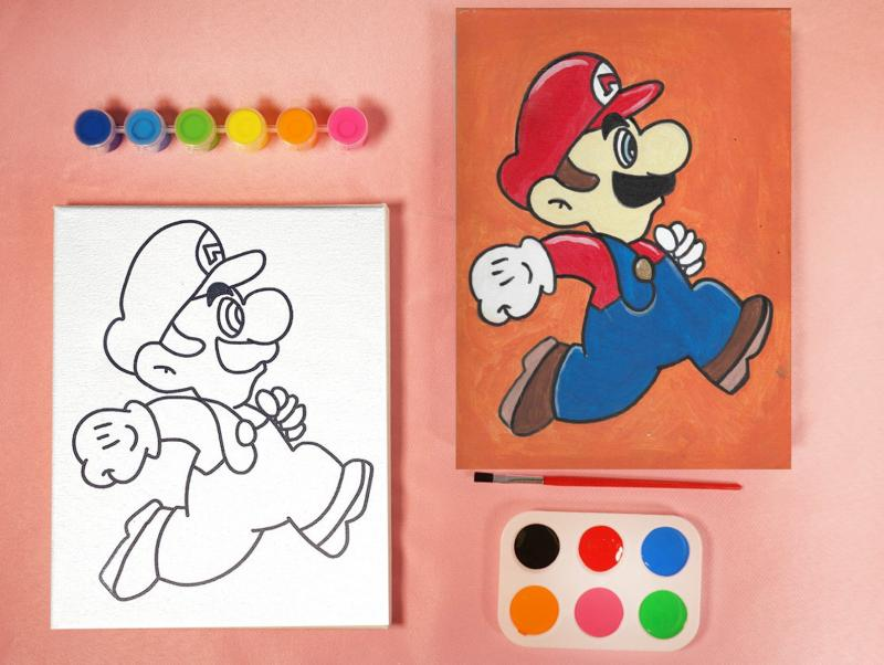 MARIO BROTHERS PAINT SET