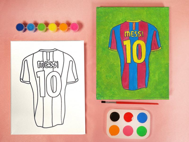 BARCELONA MESSI PAINT SET