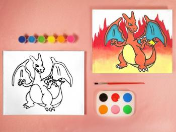 DRAGON PIKACHU PAINT SET