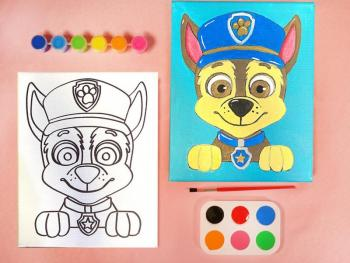 PAW PATROL CHASE PAINT SET