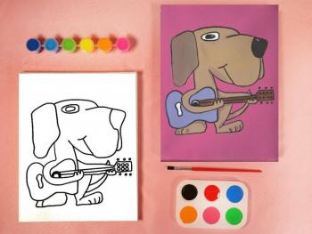 DOG&GUITAR PAIT SET