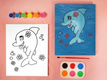 DOLPHIN PAINT SET