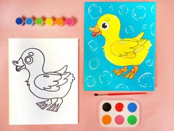 BABY DUCK PAINT SET