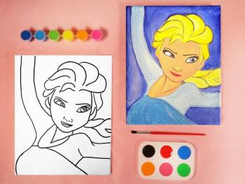 FROZEN ELSA PAINT SET