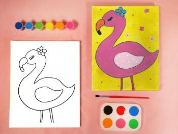 FLAMINGO PAINT SET