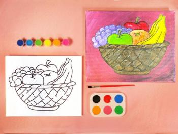 FRUIT BASKET PAINT KIT