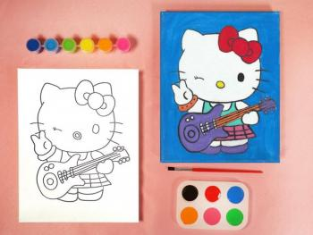 HELLO KITTY PAINT SET