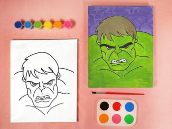 SUPER HEROES HULK PAINT SET