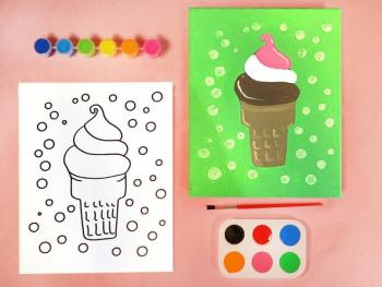ICE CREAM PAINT SET