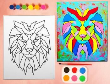 LION PAINT SET