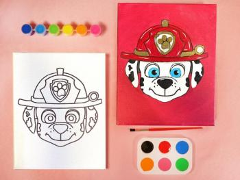 PAW PATROL MARSHALL PAINT SET